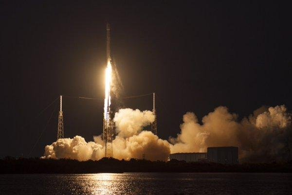 A SpaceX Falcon 9 rocket successfully delivered a SES-9 commercial communications satellite into orbit on Friday. The mission was a year behind schedule and had been postponed three times in the weeks leading up to the launch. SpaceX CEO Elon Musk tweeted that the rocket crashed into a droneship while attempting to land back on earth.