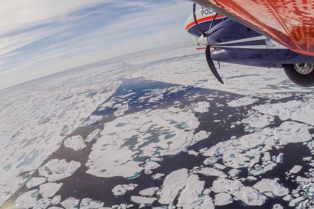 Less and less sea ice is making to the Central Arctic as a result of warming temperatures and increased melt rates. Photo by Alfred Wagner Institute