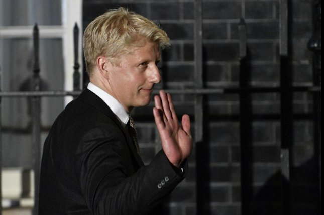 Jo Johnson, shown here leaving 10 Downing Street in London in July, announced Thursday he's leaving Parliament. File Photo by Neil Hall/EPA-EFE