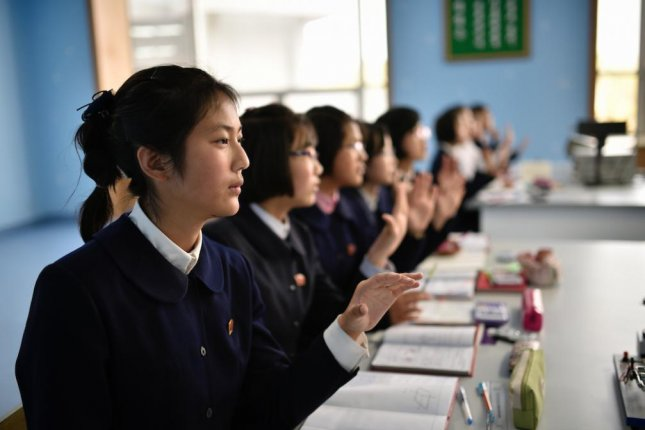 North Korea said Tuesday a new mobile app featuring an integrated learning support system is available for use among students. File Photo by Franck Robichon/EPA