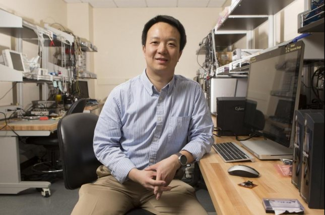 Zhanpeng Jin, an assistant professor in the Department of Electrical and Computer Engineering at the Thomas J. Watson School of Engineering and Applied Science at Binghamton University, has developed a method to use a person's heartbeat as a password to access electronic health data. Photo by Binghamton University