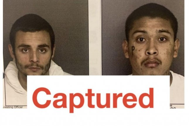 Santos Samuel Fonseca, 21, and Jonathan Salazar, 20, were arrested and transported back to county jail after escaping on Sunday as they awaited trial for murder and other felonies. Photo courtesy Monterey County Sheriff's Office