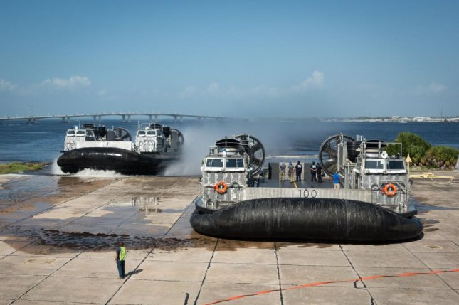 The Navy's newest Landing Craft Air Cushion hovercraft arrived at Naval Surface Warfare Center Panama City Division Wednesday. Photo by Anthony Powers/U.S. Navy