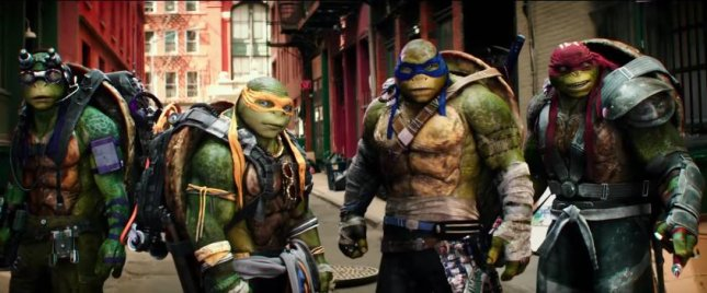 Donatello, Michelangelo, Leonardo and Raphael are back in the first full-trailer for Teenage Mutant Ninja Turtles 2. Photo courtesy of Paramount Pictures/YouTube
