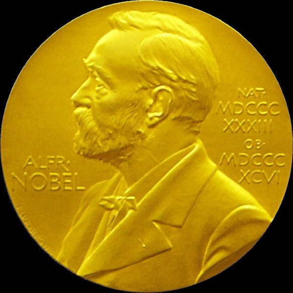The medal awarded to Nobel Prize laureates at the annual December ceremony. David Thouless, F. Duncan M. Haldane and J. Michael Kosterlitz will share the Physics prize in 2016, it was announced Tuesday. Photo courtesy of Wikipedia