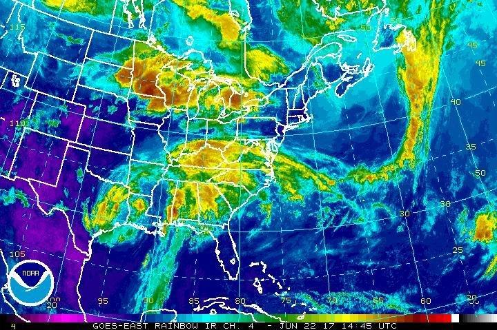 Cindy Weakens But Still Stirs Weather Over Wide Swath