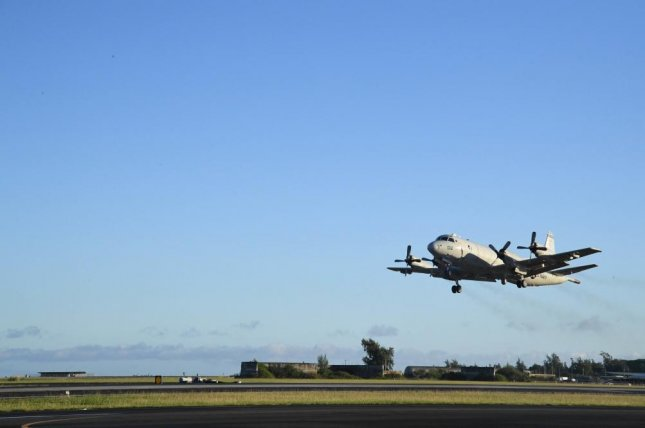 The P-3 Orion, pictured, is one of the maritime patrol craft used by U.S.-allied nations. U.S. Navy photo