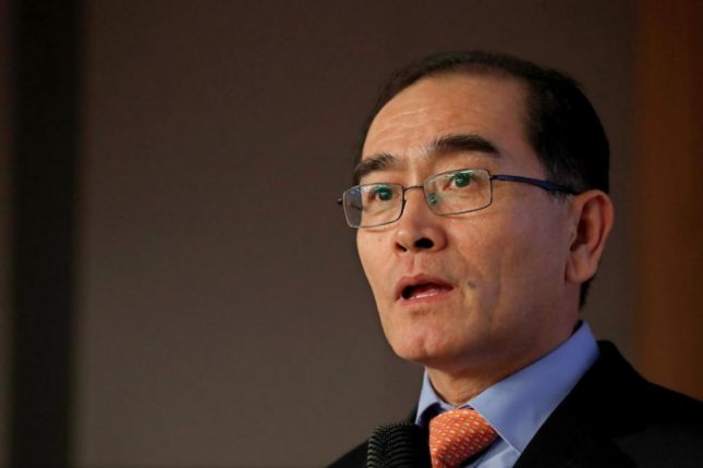 High-profile North Korean defector Thae Yong-ho has agreed to run for office in South Korea. File Photo by Jeon Heon-kyun