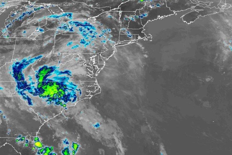 The stormwill bring heavy rain, rough seas, dangerous rip currents and even coastal flooding from the upper coast of South Carolina to the coastal areas of North Carolina into Wednesday night. Image courtesy of NOAA
