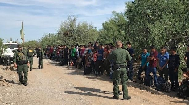 The U.S. Border Patrol said some of the immigrants were as young as 4-years-old. Photo courtesy of U.S. Border Patrol