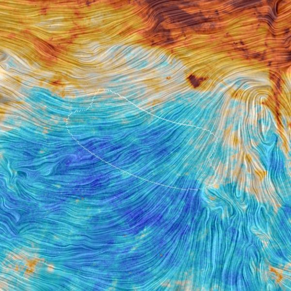 Planck view of BICEP2 field. Image by ESA/Planck Collaboration.