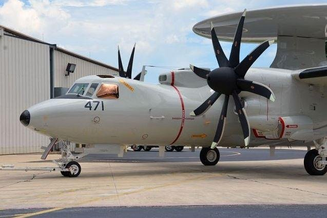 The first of Northrup Grumman's E-2D Advanced Hawkeye planes for Japan was received on Friday by the Japan Air Self Defense Force in Tokyo. Photo courtesy of Northrup Grumman/Facebook