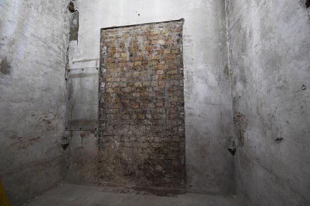 The hidden doorway was filled with bricks during reconstruction work following World War II, officials said. Photo courtesy U.K. Parliament/Jessica Taylor