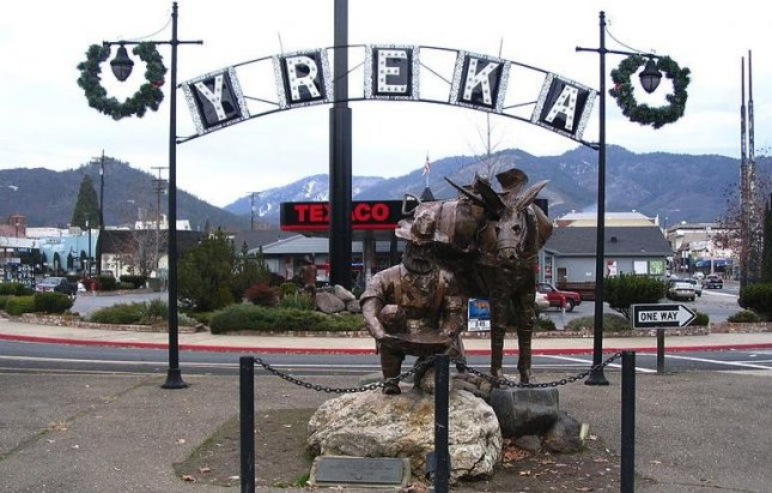 A statue in the Yreka Historic District in Yreka, Siskiyou County, California. (CC/DCoetzee)
