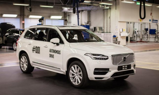 A fully self driving Volvo XC90 rolled off the Torslanda, Sweden, assembly line and will be on Swedish roads by 2017. Volvo intends to sell autonomous-driving cars by 2021. Photo courtesy of Volvo Cars