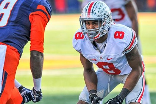 Ohio State's Gareon Conley is projected to be the Redskins' top pick. Photo courtesy Redskins.com