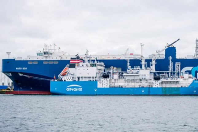 French energy company ENGIE delivers liquefied natural gas as a fuel source at a port facility in Belgium. Photo courtesy of ENGIE.