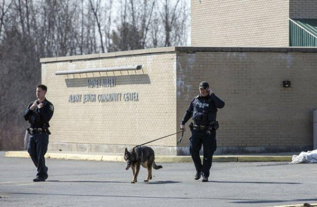 Police evacuated the Albany Jewish Community Center Sunday after it was targeted in a bomb threat. Photo courtesy of New York Gov. Andrew Cuomo/Twitter