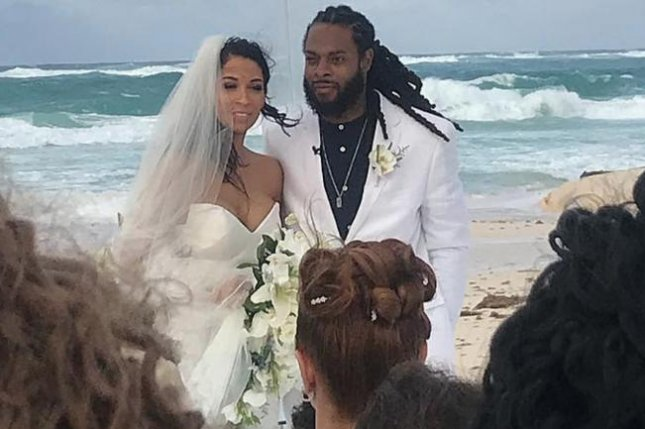 San Francisco 49ers cornerback Richard Sherman married fiancee Ashley Moss Wednesday in Punta Cana. Photo courtesy of Kam Chancellor/Instagram.