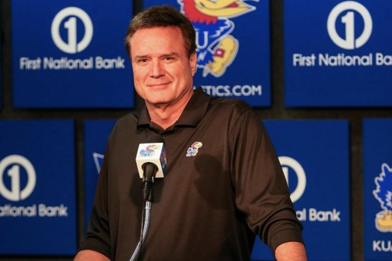 Kansas men's basketball coach Bill Self. Photo courtesy of KUHoops/Twitter