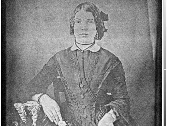 A mini X-ray beam helped scientists recover hidden images, including the portrait of a woman from the 19th century, from degraded daguerreotypes. Photo by University of Western Ontario