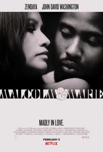 Netflix released a poster for Malcolm & Marie, a movie written and directed by Sam Levinson. The film, which streams Feb. 5, stars Zendaya andJohn David Washington as a couple who begin to question their relationship. Photo courtesy of Netflix