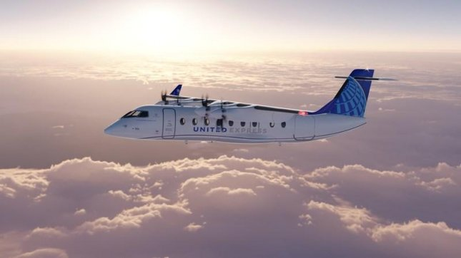 United Airlines announced Tuesday it will purchase 100 Heart Aerospace ES-19 electric planes as part of its efforts to reduce its greenhouse gas emissions by 100% by 2050. Photo courtesy United Airlines