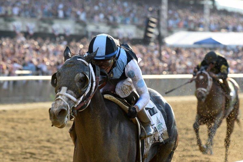 Tapwrit takes Saturday's Belmont Stakes. Photo courtesy of Adam Mooshian/NYRA
