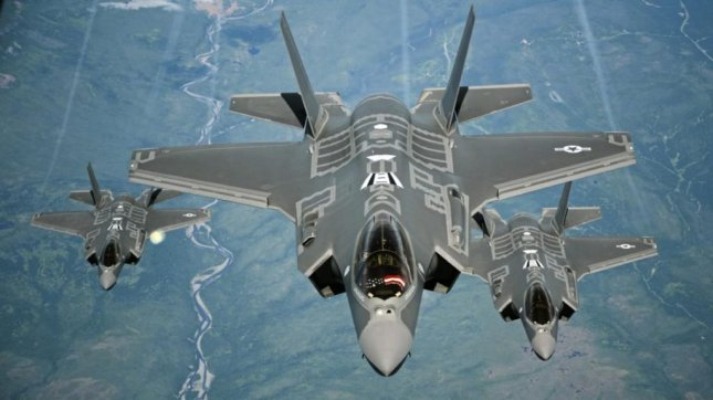 U.S. Air Force F-35As form up for aerial refueling. Lockheed Martin said the company expects to hit full rate production of the aircraft by 2023, when it will produce about 160 F-35s per year. Photo by U.S. Air Force