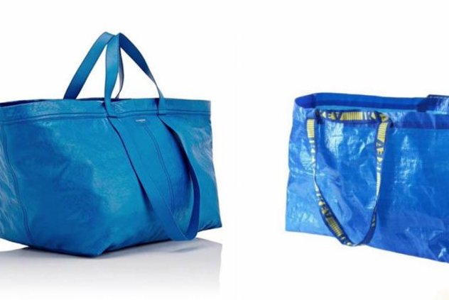 A high-end bag selling for $2,145 (L) bears a striking resemblance to a 99-cent bag from Ikea (R). Screenshot: TODAY