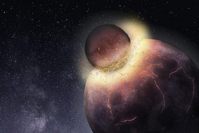 New research suggests an ancient planetary collision could have both forged Earth's moon and delivered the volatiles -- including carbon and nitrogen -- that made life possible. Photo by Rice University