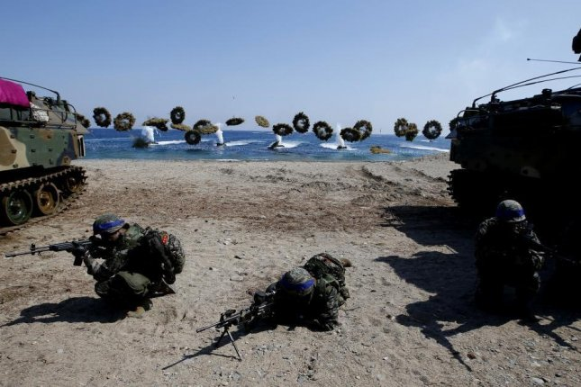 The United States and South Korea have yet to settle differences in defense burden sharing negotiations. There are about 28,500 U.S. troops stationed on the peninsula. File Photo by Jeon Heon-kyun/EPA-EFE