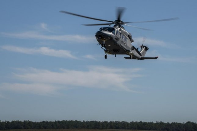The MH-139A Grey Wolf lands at Duke Field, Fla., Dec. 19, 2019, before its unveiling and naming ceremony. The aircraft is set to replace the Air Force's fleet of UH-1N Huey aircraft and has capability improvements related to speed, range, endurance and payload. Photo by Samuel King Jr./U.S. Air Force