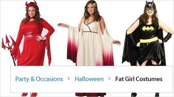 The  Fat Girl Costumes  section of Walmartu0027s website (AdFreak / Twitter)  sc 1 st  UPI.com & Walmart pulls u0027Fat Girl Costumesu0027 section from website and issues ...