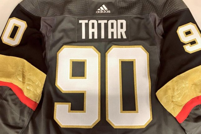 Tomas Tatar is in the Las Vegas Golden Knights' lineup for Monday's game against the Washington Capitals. Photo courtesy of the Golden Knights/Twitter.