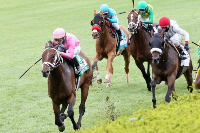 Zulu Alpha wins the closing-day feature of Keeneland's summer meet, the Elkhorn Stakes. Photo courtesy of Keeneland