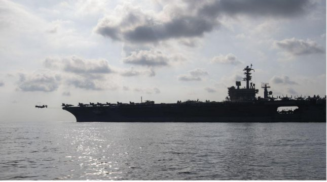 The Nimitz Strike Group, led by the aircraft carrier USS Nimitz, is off the East African coast to provide cover for U.S. ground troops relocating from Somalia. Photo courtesy of AFRICOM