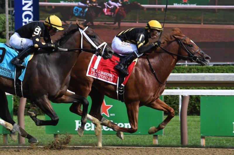 Lexitonian wins Saturday's Grade I Alfred Vanderbilt at Saratoga. Photo by Susie Raisher, courtesy of New York Racing Association