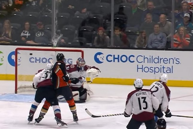 Anaheim Ducks winger Jakob Silfverberg destroyed a water bottle with a goal Sunday. Photo courtesy of NHL/YouTube