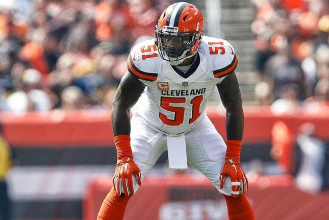 Cleveland Browns linebacker Jamie Collins (51) was able to practice on a limited basis during organized team activities on Wednesday. Photo courtesy of Cleveland Browns/Twitter