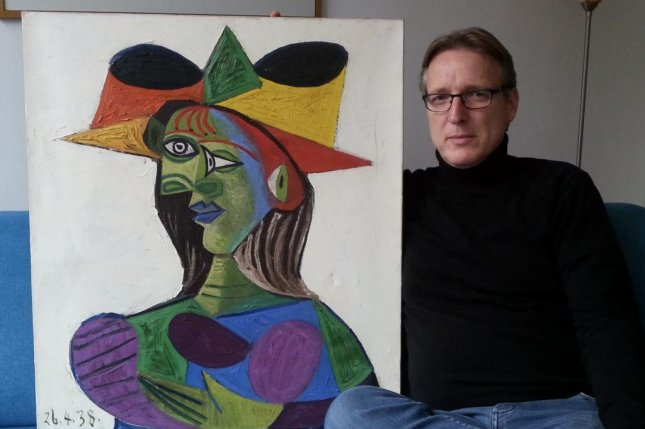 Arthur Brand said two people with contacts with the underground art world brought the painting to him. Photo by Tetteroo