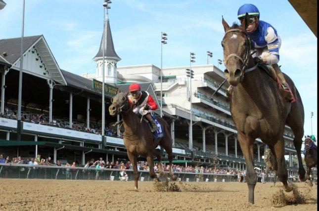 Dennis' Moment wins Saturday's Iroquois at Churchill Downs, a Breeders' Cup Win and You're In and the first race in the Road to the Kentucky Derby series. Photo courtesy of Churchill Downs