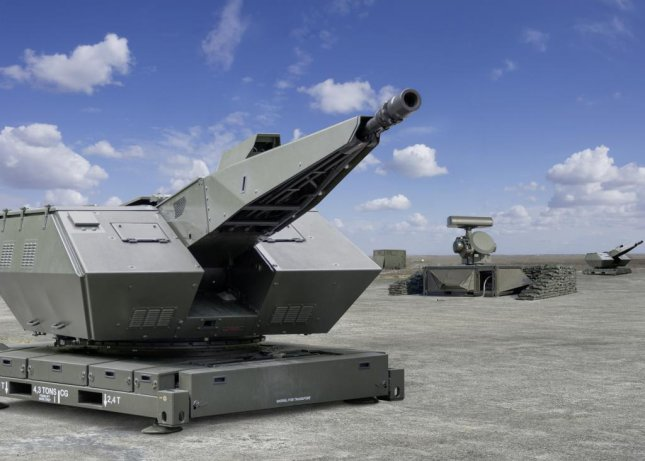 A 35mm air defense gun by Rheinmetall of Germany. Photo courtesy of Rheinmetall