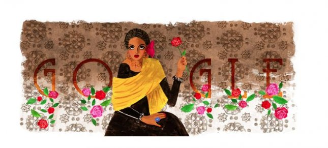 Google is paying homage to award-winning actress Katy Jurado with a new Doodle. Image courtesy of Google