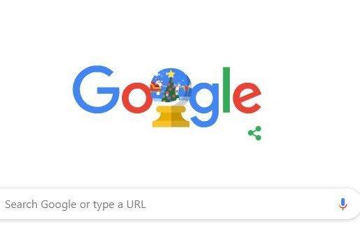 Google's Doodle Tuesday celebrates the winter holidays. Photo courtesy of Google