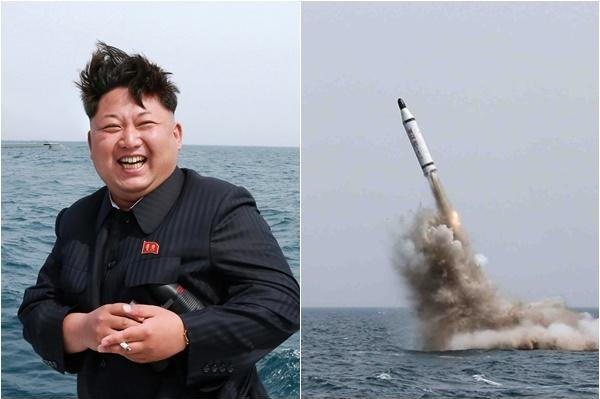 North Korea test-fired a submarine-launched ballistic missile in May, but opinion is divided on whether the image was manipulated. Photo by KCNA/Yonhap