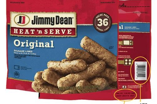 Jimmy Dean recalled more than 29,000 pounds of Heat 'n Serve Sausage Links, over concern for metal fragments in some packages. Image courtesy Jimmy Dean.