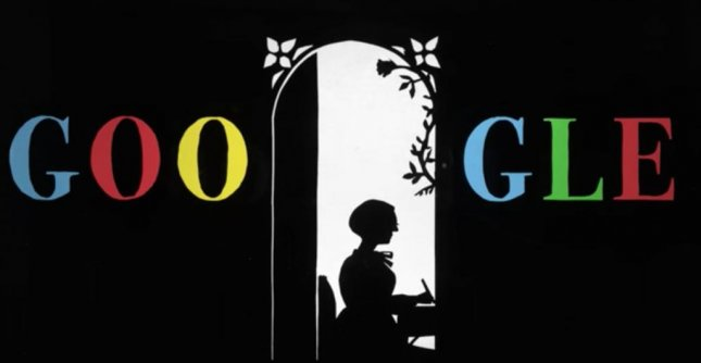 Google celebrated legendary animator Lotte Reiniger's 117th birthday with its own paper cut-out animation. Screenshot photo by Google.com