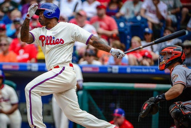 The Phillies hung on to beat the Giants 9-7 on Sunday. Photo courtesy Philadelphia Phillies/Twitter