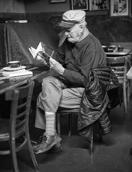 Lawrence Ferlinghetti, the poet, publisher and owner of San Francisco's City Lights book store who helped to foster the Beat movement, died at the age of 101, his family said. Photo by Cmichel67/Wikimedia Commons